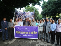 Distibution of Relief for Flood Victims at Islampur, Jamalpur.